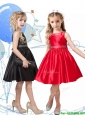 New Style Beaded Scoop Little Girl Pageant Dress in Knee Length