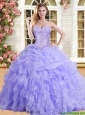 Latest Applique and Ruffled Quinceanera Dress in Lilac for Spring