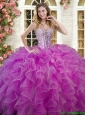 New Style Ruffled and Beaded Sweet 16 Dress in Lilac