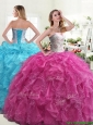 Beautiful Really Puffy Quinceanera Dress with Beading and Ruffles