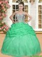Elegant Spring Green Quinceanera Dress with Beading and Ruffles for Spring