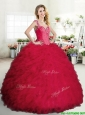 Perfect Big Puffy Sweet 16 Dress with Beading and Ruffles