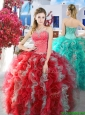 Gorgeous Really Puffy Sweet 16 Dress with Beading and Ruffles