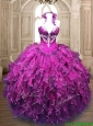 New Arrivals Organza Quinceanera Dress with Appliques and Ruffles