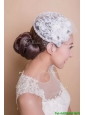 Popular White Headpieces with Rhinestone and Hand Made Flowers