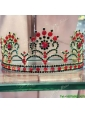 Exclusive Rhinestoned Tiara in Red for Party