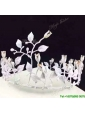 New Style Tiara with Rhinestone in White