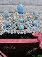 Affordable Tiara with Baby Blue Rhinestone
