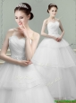 Fashionable Ball Gown Wedding Dress with Beading and Ruching
