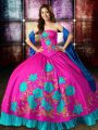 Wonderful Floor Length Ball Gowns Sleeveless Multi-color Quince Ball Gowns Lace Up
