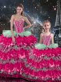 Luxury Floor Length Multi-color Quinceanera Dress Sweetheart Sleeveless Lace Up