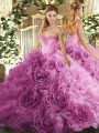 Latest Rose Pink Sweetheart Neckline Beading Quinceanera Dress Sleeveless Lace Up