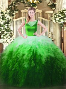 Multi-color Sleeveless Tulle Side Zipper Quinceanera Dresses for Sweet 16 and Quinceanera