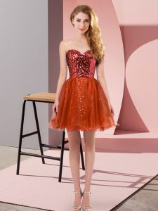 Glorious Sweetheart Sleeveless Tulle Prom Party Dress Sequins Zipper