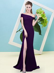 Simple Sleeveless Zipper Floor Length Ruching Wedding Guest Dresses