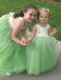 Attractive Sleeveless Bowknot Lace Up Flower Girl Dresses for Less