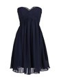 Sexy Mini Length Zipper Prom Dresses Navy Blue and In for Prom and Party with Beading