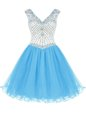 Top Selling Sleeveless Beading Zipper Homecoming Dress