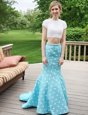 Scoop Satin Sleeveless Floor Length Prom Party Dress and Beading