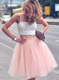 Deluxe Tulle Sleeveless Mini Length Homecoming Dress and Ruffles