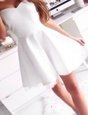 Luxurious Sweetheart Sleeveless Zipper Dress for Prom White Satin