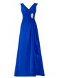 Fine Halter Top Sleeveless Beading Backless Homecoming Dress