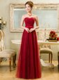 Luxury Lace Red Sweetheart Zipper Belt Prom Gown Sleeveless