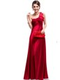 Suitable One Shoulder Sleeveless Ruching Criss Cross Prom Dresses