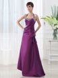 Fashion Halter Top Purple Lace Up Prom Party Dress Beading and Ruching Sleeveless Floor Length