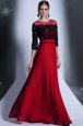 Scoop 3|4 Length Sleeve Beading and Appliques Clasp Handle Prom Party Dress