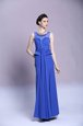 Traditional Blue Dress for Prom Prom and Party and For with Beading and Appliques Scoop Sleeveless Zipper