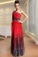 Beautiful Multi-color Side Zipper Ruching Sleeveless Floor Length