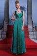 High Quality Peacock Green Sleeveless Elastic Woven Satin Zipper Prom Party Dress for Prom and Party