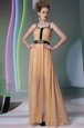Flirting Chiffon Sleeveless Floor Length Dress for Prom and Appliques