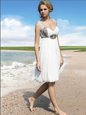 Floor Length White Prom Gown Straps Sleeveless Zipper