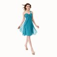 Fancy Teal One Shoulder Neckline Beading and Ruffles Homecoming Dress Sleeveless Side Zipper
