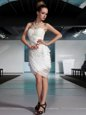 Beautiful Sweetheart Sleeveless Side Zipper Prom Gown White Chiffon