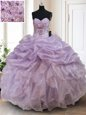 Superior Straps Fuchsia Organza Zipper Sweet 16 Dresses Sleeveless Floor Length Ruffled Layers and Pick Ups