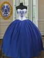 Superior Sleeveless Beading and Ruffles Lace Up Sweet 16 Quinceanera Dress