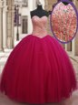 Extravagant Tulle Sleeveless Floor Length Quinceanera Dresses and Beading