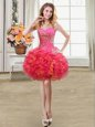 Mini Length Ball Gowns Sleeveless Multi-color Prom Gown Lace Up