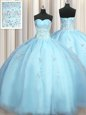 Zipple Up See Through Back Sleeveless Zipper Floor Length Beading and Ruffles Quinceanera Gowns
