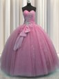 High End Big Puffy Quinceanera Dress Military Ball and Sweet 16 and Quinceanera and For with Beading and Sequins Strapless Sleeveless Lace Up