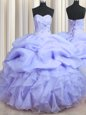 Customized One Shoulder Floor Length Ball Gowns Sleeveless Light Blue Quinceanera Gown Zipper