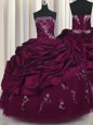 Designer Pick Ups Floor Length Ball Gowns Sleeveless Purple 15th Birthday Dress Lace Up