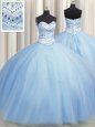 Multi-color Sleeveless Floor Length Beading and Ruffles Lace Up Sweet 16 Dress