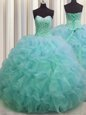 Floor Length Black And Purple Quinceanera Dress Organza and Tulle Sleeveless Beading and Ruffles