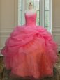Three Piece Ball Gowns 15 Quinceanera Dress Multi-color Sweetheart Tulle Sleeveless Floor Length Lace Up