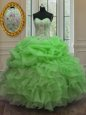 Strapless Sleeveless Zipper Quinceanera Dresses Coral Red Tulle