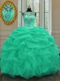 Lavender Sleeveless Beading and Embroidery and Ruffles Floor Length Vestidos de Quinceanera